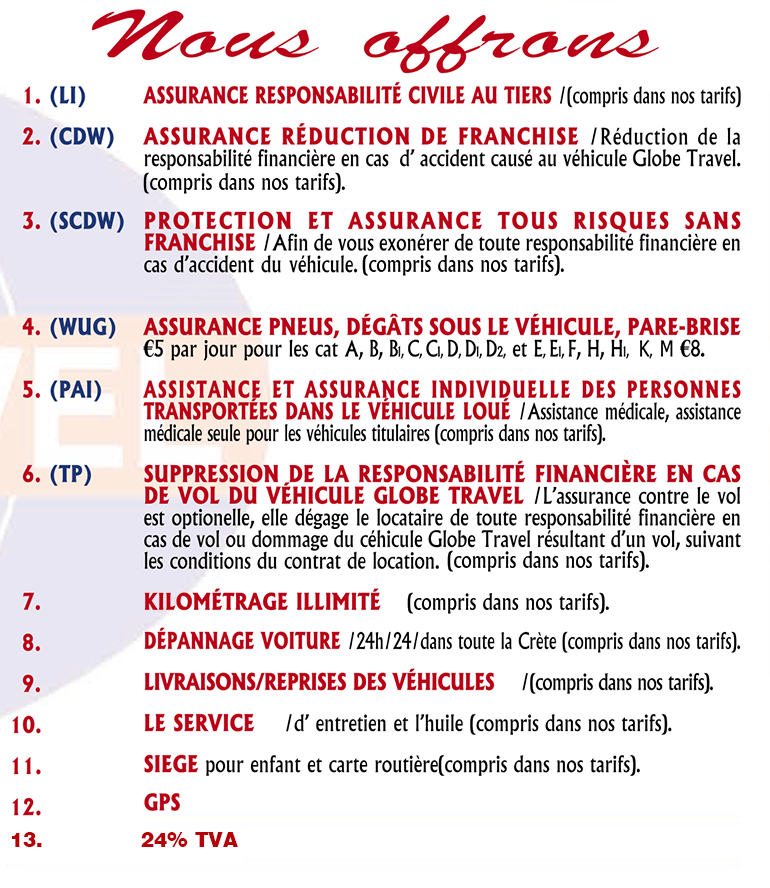 Conditions de location de voiture - Français Version